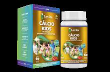 CALCIO LEVITA  KIDS 450MG C/ 60 CAPS MAST SABOR MORANGO